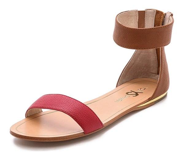 Yosi Samra Cambelle Flat Sandals Chili Red