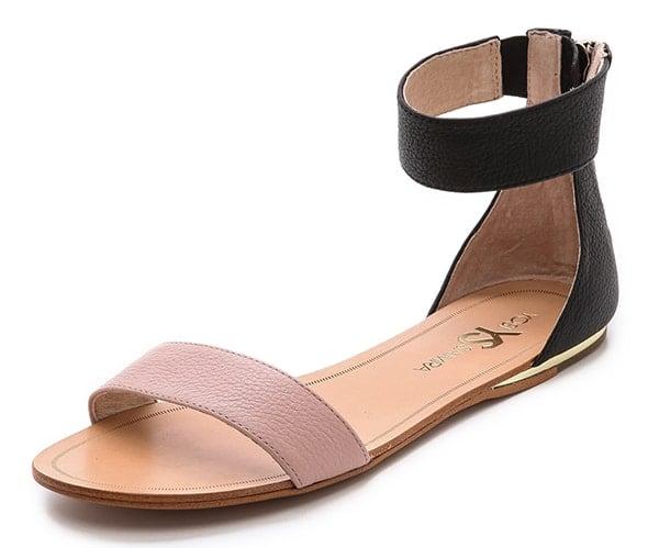 Yosi Samra Cambelle Flat Sandals Misty Rose