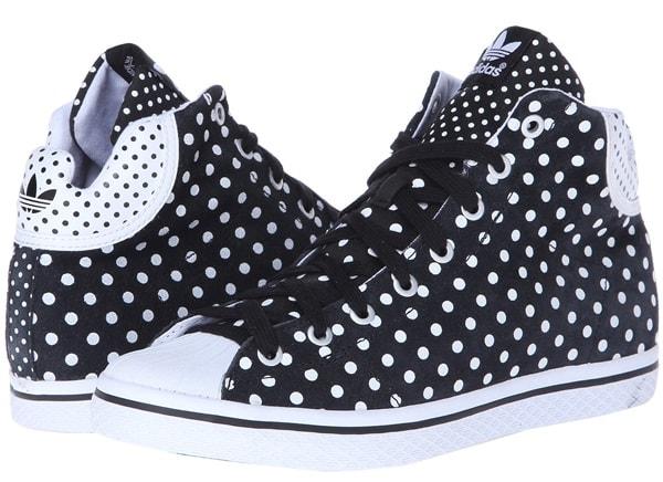 "adidas Originals ""Vulc Star"" Mid-Cut Sneakers in Black/White"