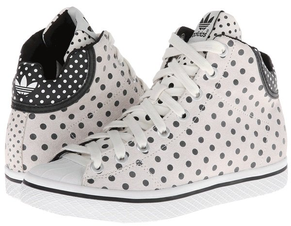 "adidas Originals ""Vulc Star"" Mid-Cut Sneakers in White/Black"
