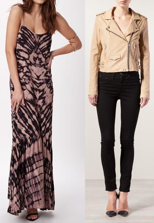 ále by Alessandra Caravan Maxi Dress and IRO Ashville Leather Jacket