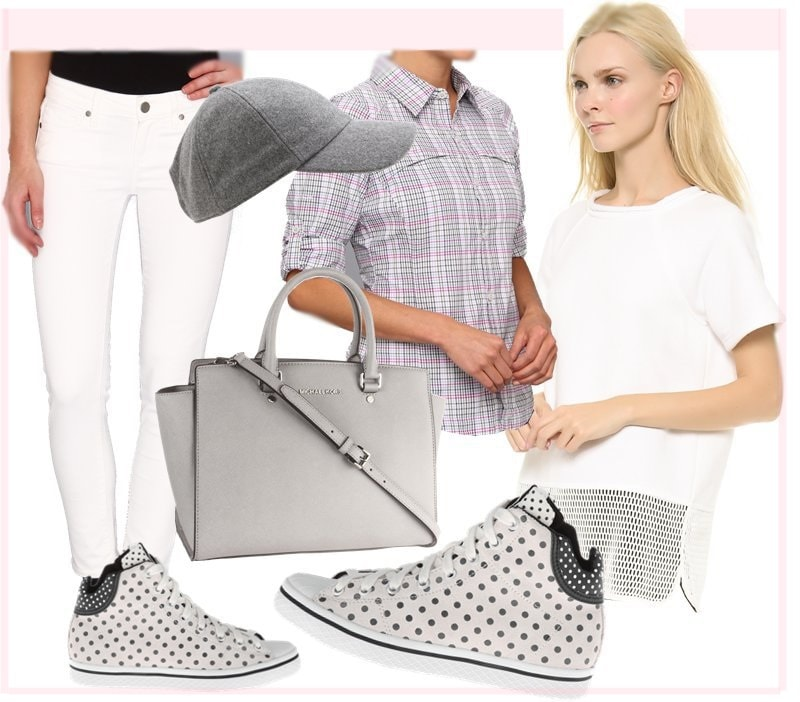 How to steal Karolina's uber cool and preppy all-white ensemble