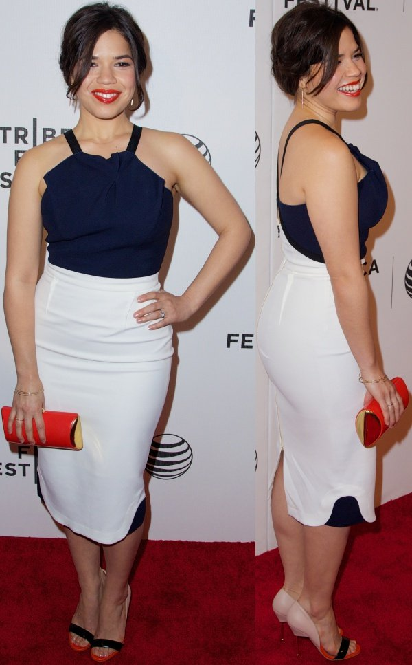 America Ferrera at the premiere of X/Y during the 2014 Tribeca Film Festival held at BMCC Tribeca PAC in New York City on April 19, 2014