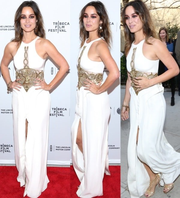 Berenice Marlohe at the premiere of 5 to 7 during the 2014 Tribeca Film Festival held at the SVA Theatre in New York City on April 19, 2014