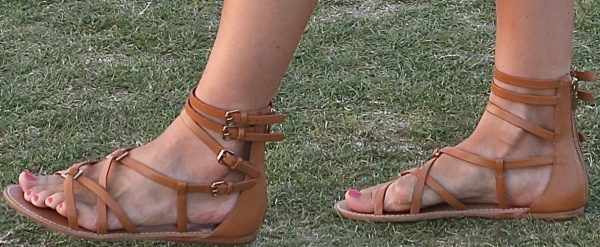 Camilla Belle showing off her feet at the 2014 Coachella Valley Music and Arts Festival