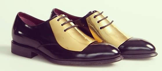 Metal plate oxfords from Celine's Pre-Fall 2013 Collection