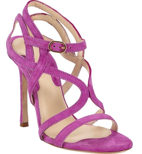 chelsea paris strappy sandal purple