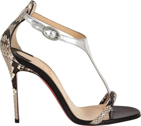 """Christian Louboutin """"Athena Alta"""" Sandals in Black"""