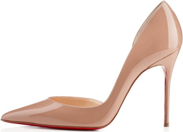 "Christian Louboutin ""Iriza"" Pumps in Nude Patent Leather"