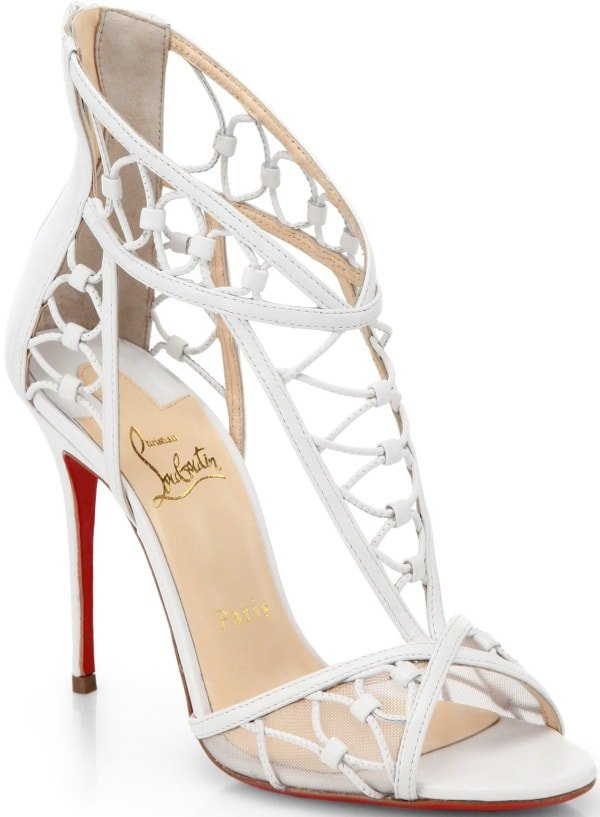 "Christian Louboutin ""Martha"" Sandals in White"