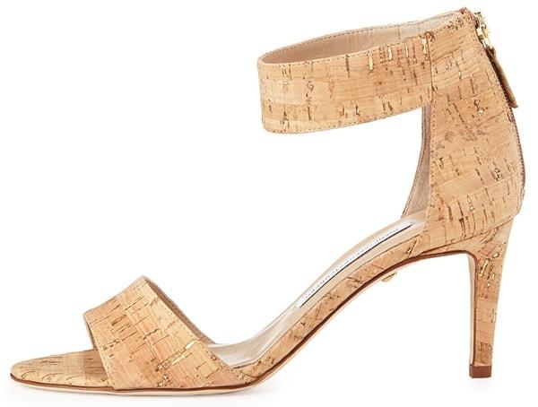 Diane von Furstenberg Kinder Cork Ankle-Strap Sandals