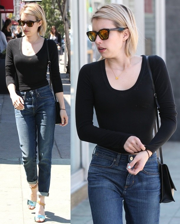 Emma Roberts shopping at Kate Spade on Third Street in West Hollywood