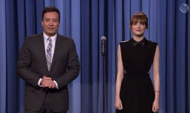 Emma Stone engaged in a lip sync battle with Jimmy Fallon when she appeared on his show the other day
