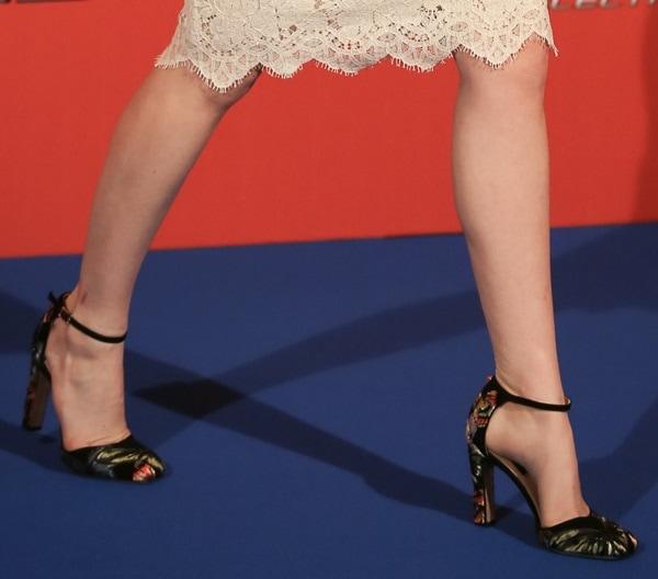 Emma Stone's Valentino ankle-strap pumps