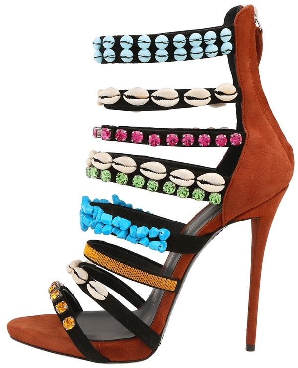 giuseppe zanotti embellished strappy sandals 2