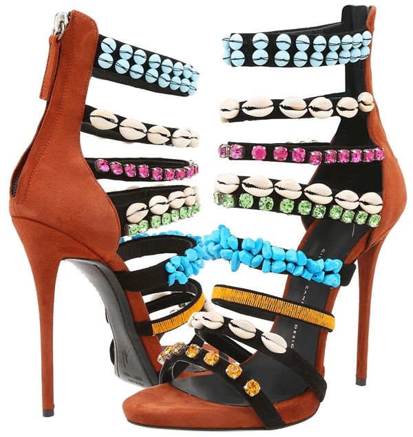 giuseppe zanotti embellished strappy sandals