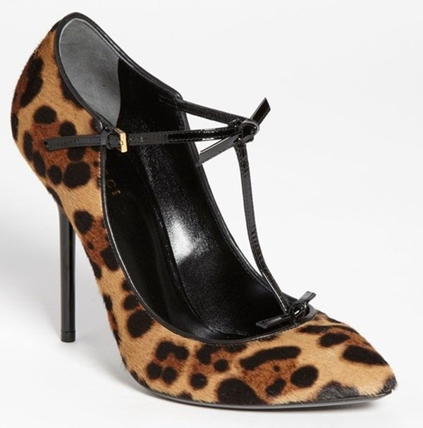 Gucci Beverly Leopard-Print Pumps