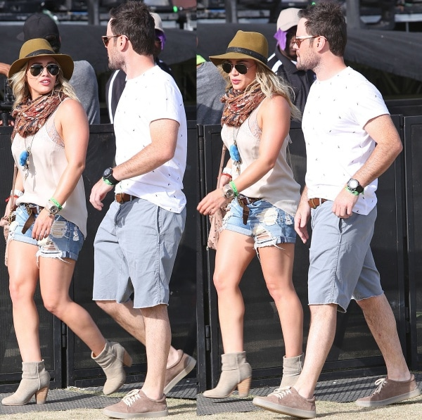 Hilary Duff with Mike Comrie at the 2014 Coachella Valley Music andArts Festival