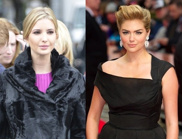 Separated at birth? Ivanka Trump and Kate Upton looking very much alike