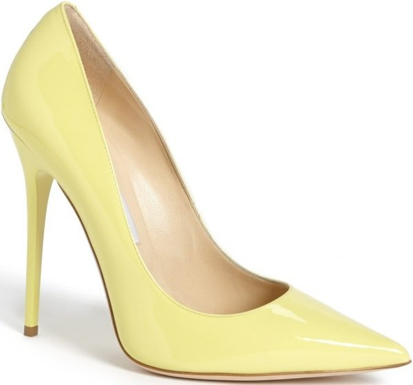 "Jimmy Choo ""Anouk"" Pumps in Lemon"
