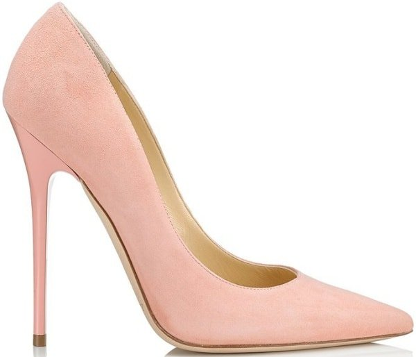 "Jimmy Choo ""Anouk"" Pumps in Sorbet Suede"
