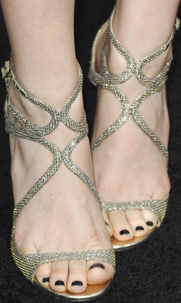 Kate Mara wearing Jimmy Choo heels