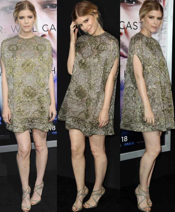 Kate Mara at the premiere of 'Transcendence' held at Regency Village Theatre in Los Angeles, California, on April 10, 2014