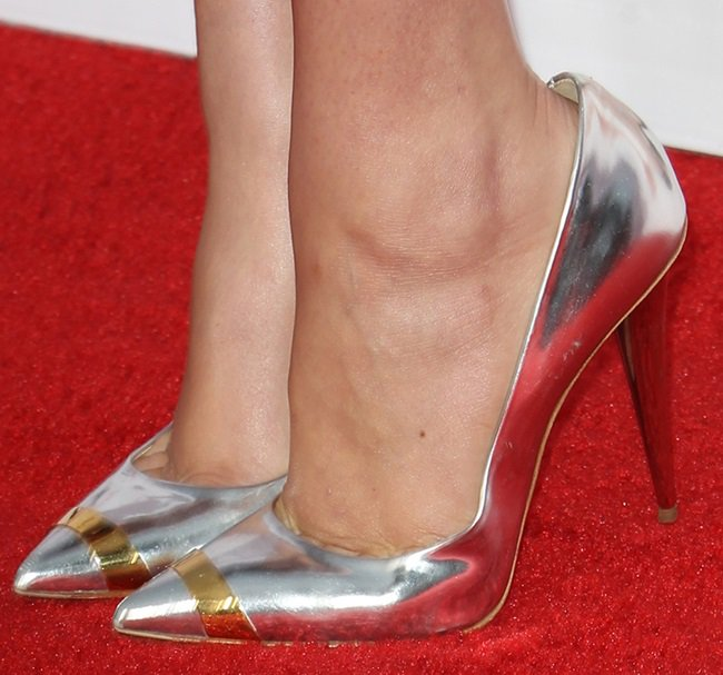A closer look at Kate's Giuseppe Zanotti cap-toe pumps