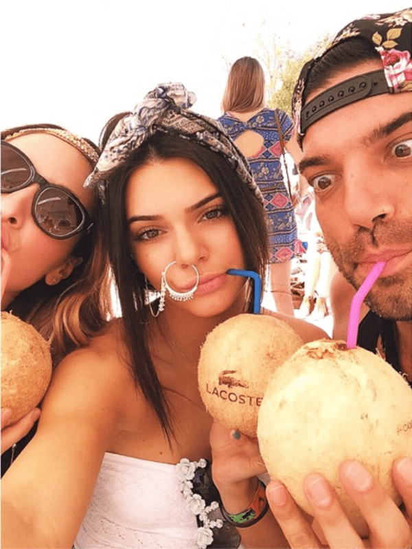 Photos of her giant nose ring from Kendall Jenner's Instagram