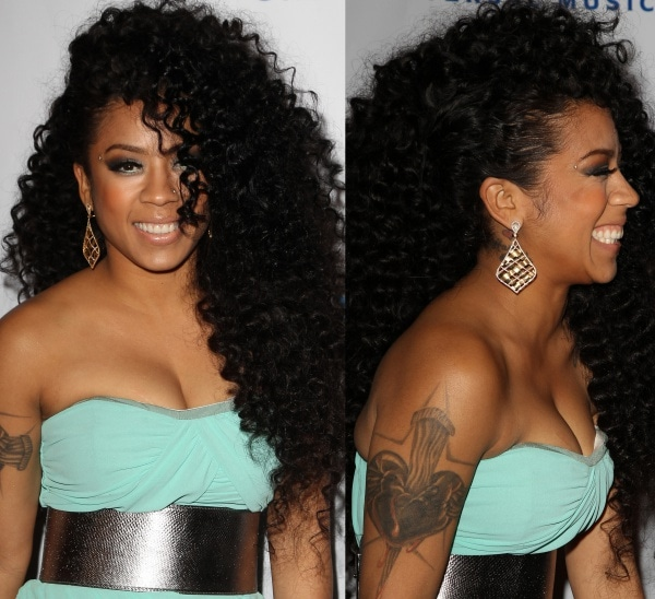 Keyshia Cole at Universal Music Group's 2014 post-Grammy party