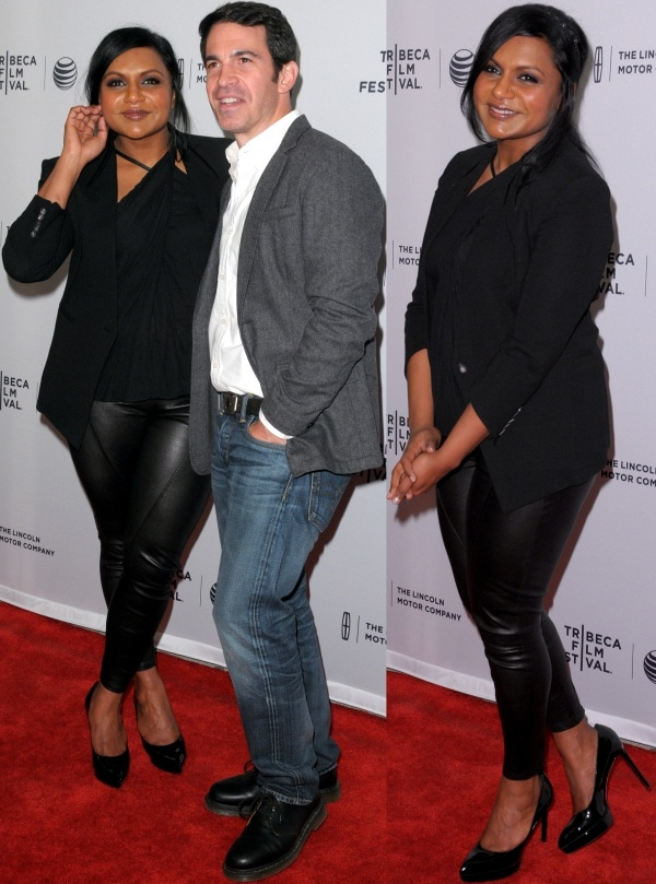 Mindy Kaling with Chris Messina at the premiere of Alex of Venice during the 2014 Tribeca Film Festival held at SVA Theatre in New York City on April 18, 2014