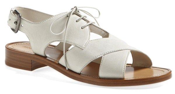 Miu Miu Lace-Up Sandals