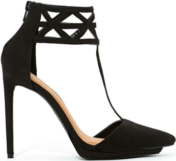 "Nasty Gal Shoe Cult ""Match"" Cage Pumps in Black"