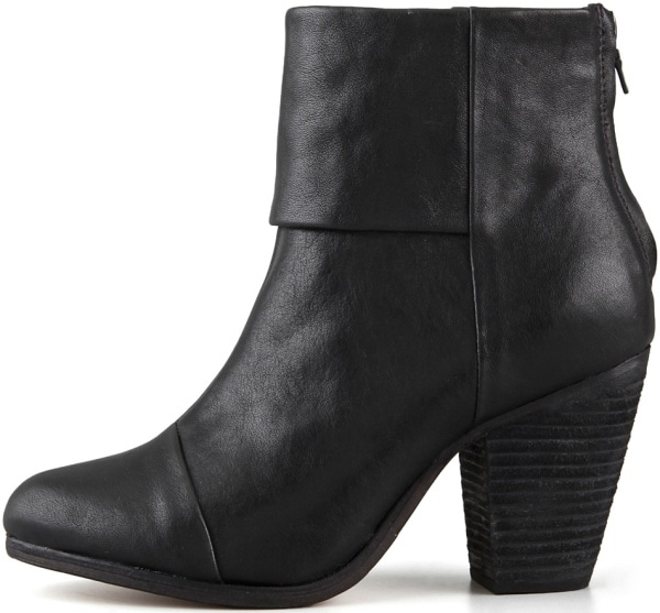 "Rag & Bone Classic ""Newbury"" Boots in Black Leather"
