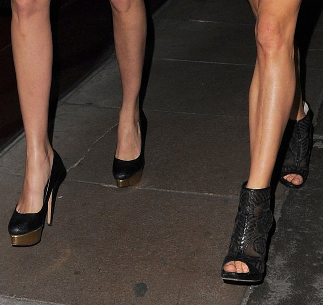 We didn't miss Sienna's mesh booties and Cara's gold-detailed pumps