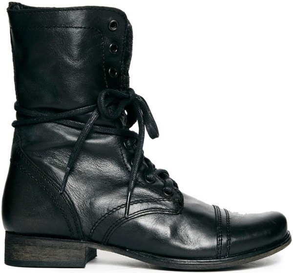 "Steve Madden ""Troopa"" Boots in Black"