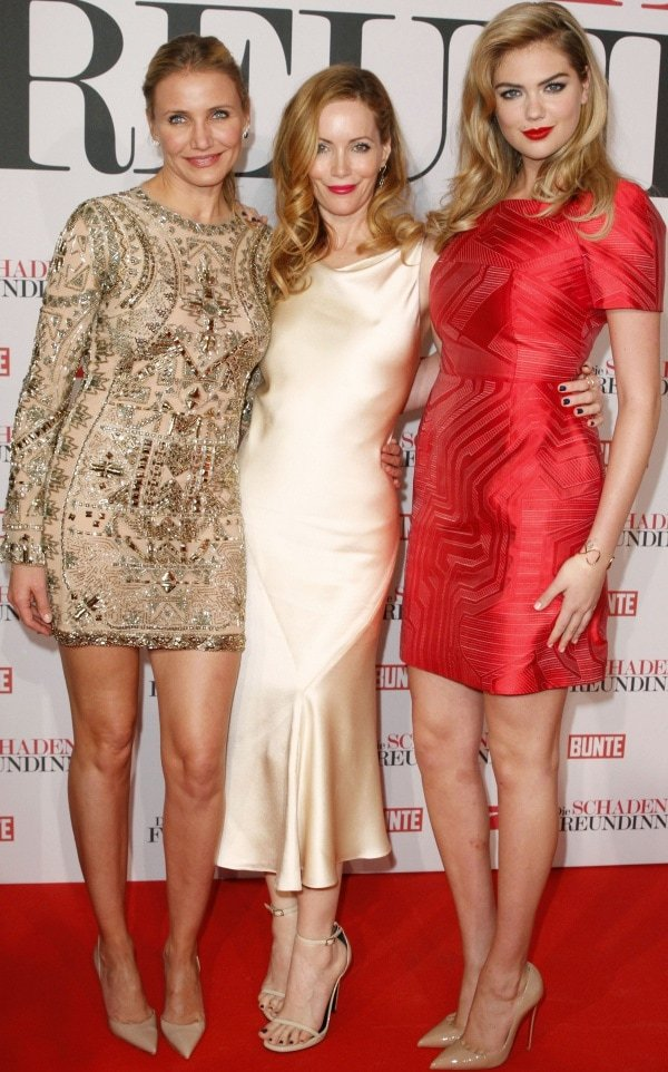 Cameron Diaz, Leslie Mann, and Kate Upton at the premiere of The Other Woman held at Mathaeser Filmpalast in Munich, Germany, on April 7, 2014