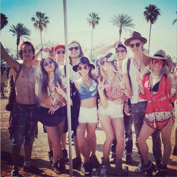 "Vanessa Hudgens' Instagram photo with the caption, ""First weekend tribe. #mirrorselfie ;) love y'all"" - posted on April 15, 2014"