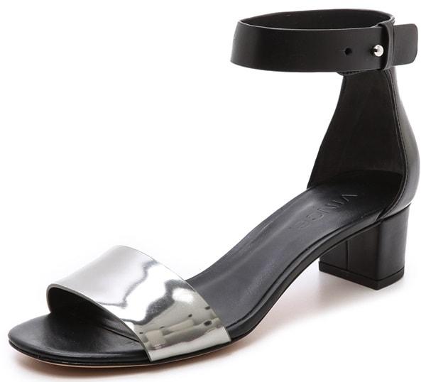 vince remi low heel sandals