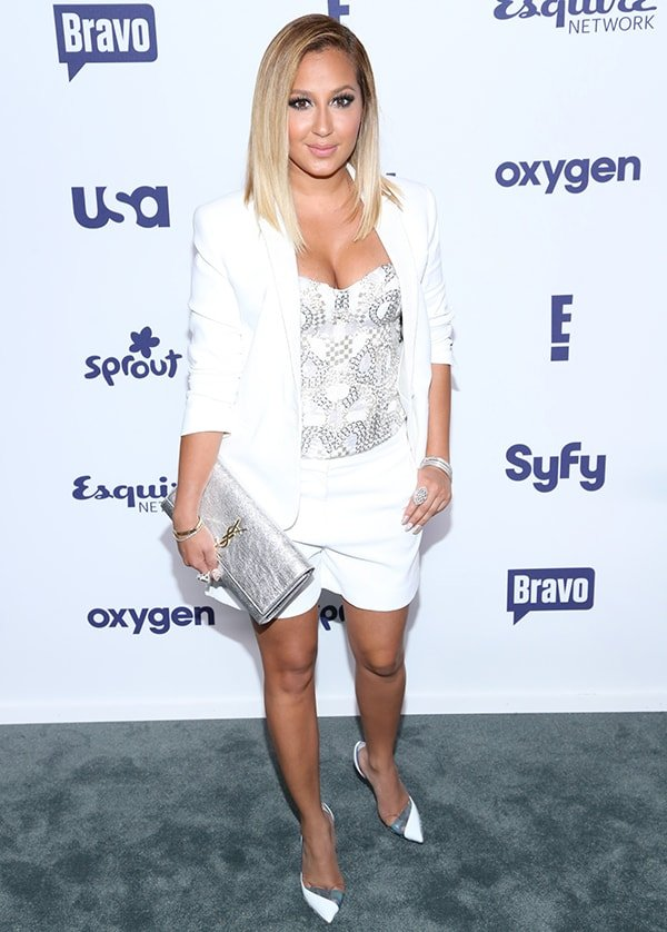 """Adrienne Bailon flaunts her hot legs at NBCUniversal Cable Entertainment's """"All Together"""" Upfront celebration"""