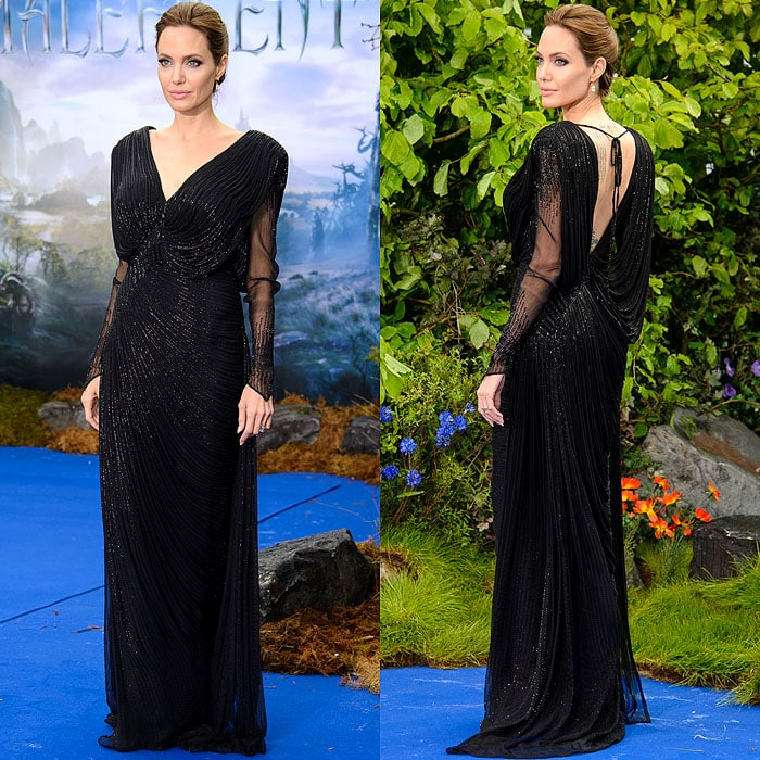 Angelina Jolie at a private 'Maleficent' reception for the Great Ormond Street Hospital held at Kensington Palace in London, England, on May 8, 2014
