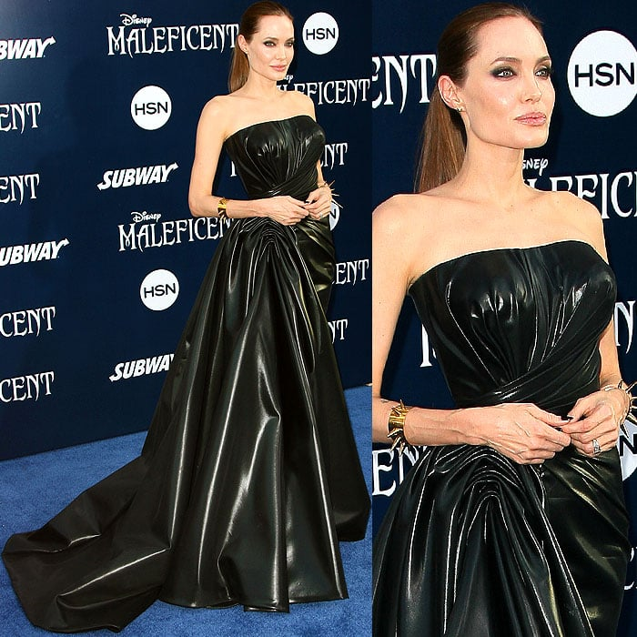 Angelina Jolie at the world premiere of Maleficent atthe El Capitan Theatre in Hollywood, California, on May 28, 2014