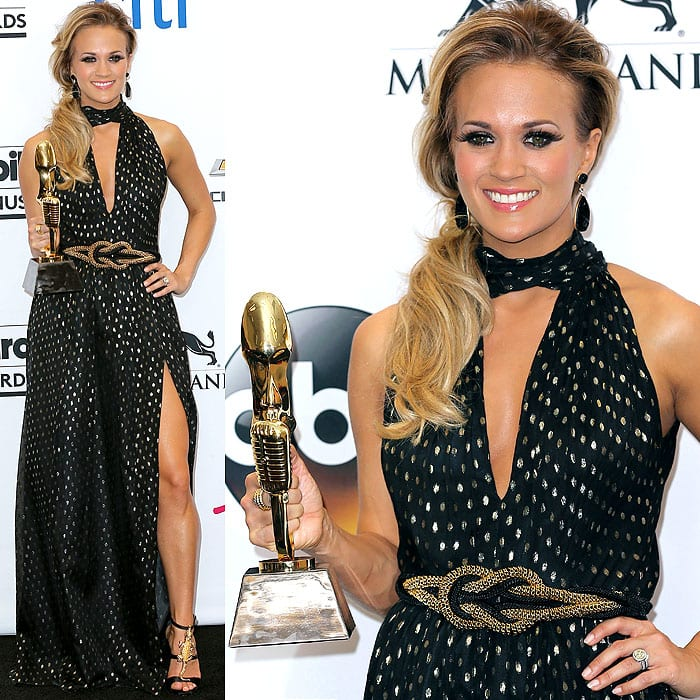 Carrie Underwood at the 2014 Billboard Music Awards held at the MGM Grand Garden Arena in Las Vegas, Nevada, on May 18, 2014