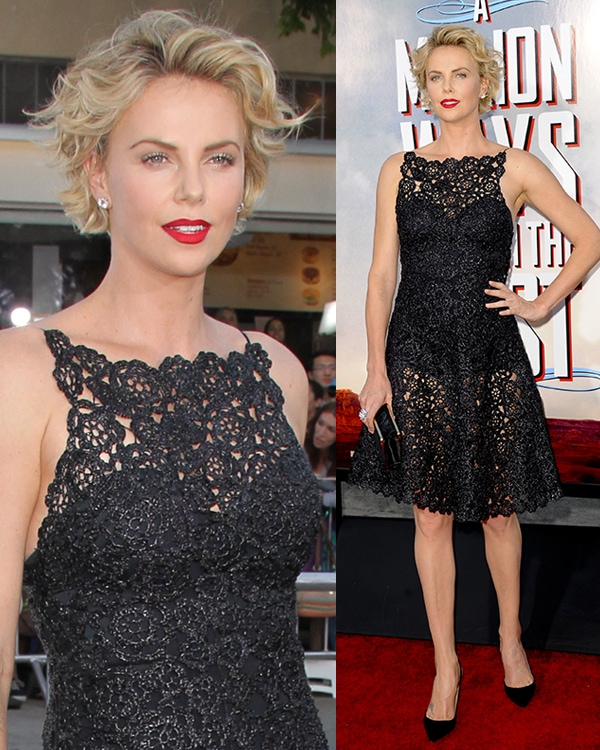 Charlize Theron at the world premiere of 'A Million Ways to Die in the West' at Regency Village Theatre in Westwood, California, on May 15, 2014