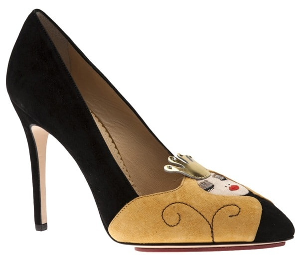 Charlotte Olympia Sleeping Beauty Suede Pump