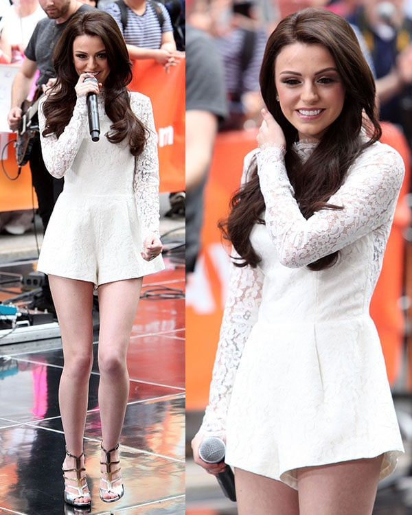 Cher Lloyd performing live on 'The Today Show' as part of NBC's Toyota Concert Series at the Rockefeller Plaza in New York City on May 27, 2014