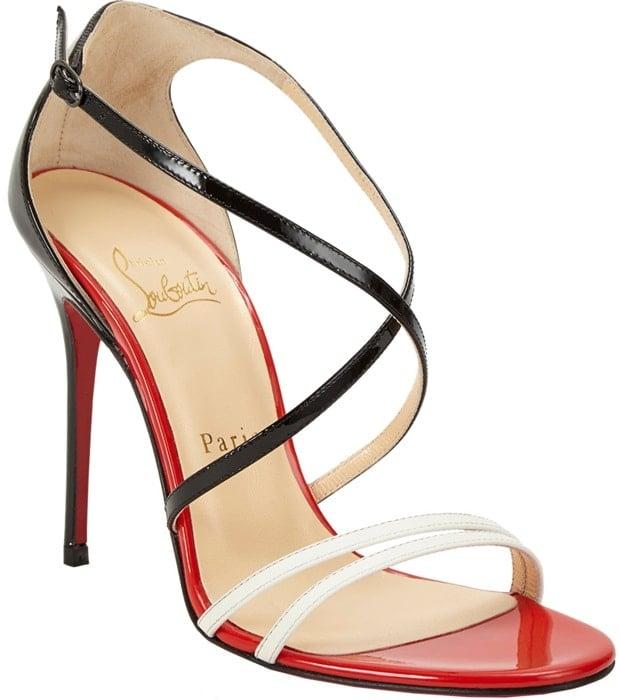 Christian Louboutin Gwynitta Crisscross Strap Sandal