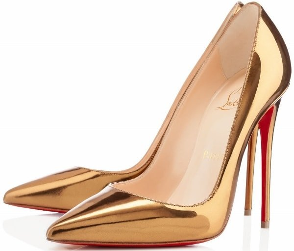 Christian Louboutin So Kate Pumps in Bronze
