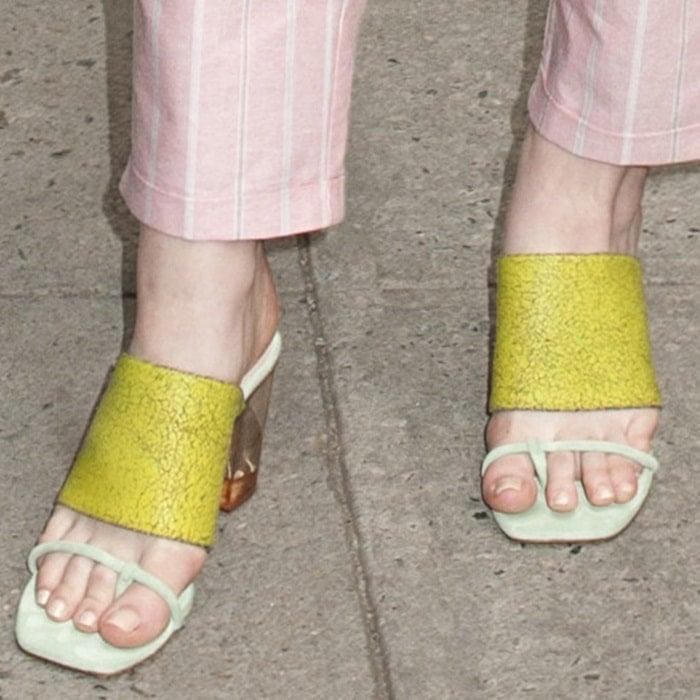"Elle Fanning wearing Opening Ceremony ""Jindo"" heeled sandals"