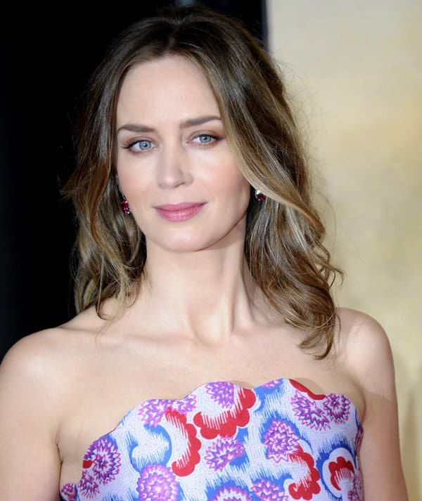 Emily Blunt at the premiere of 'Edge of Tomorrow'